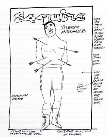 Original sketch by George Lois