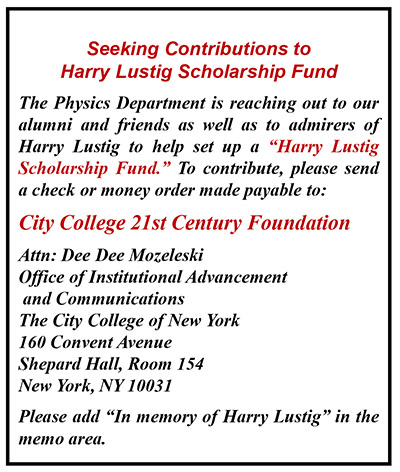 Harry Lustig Memorial Contribution