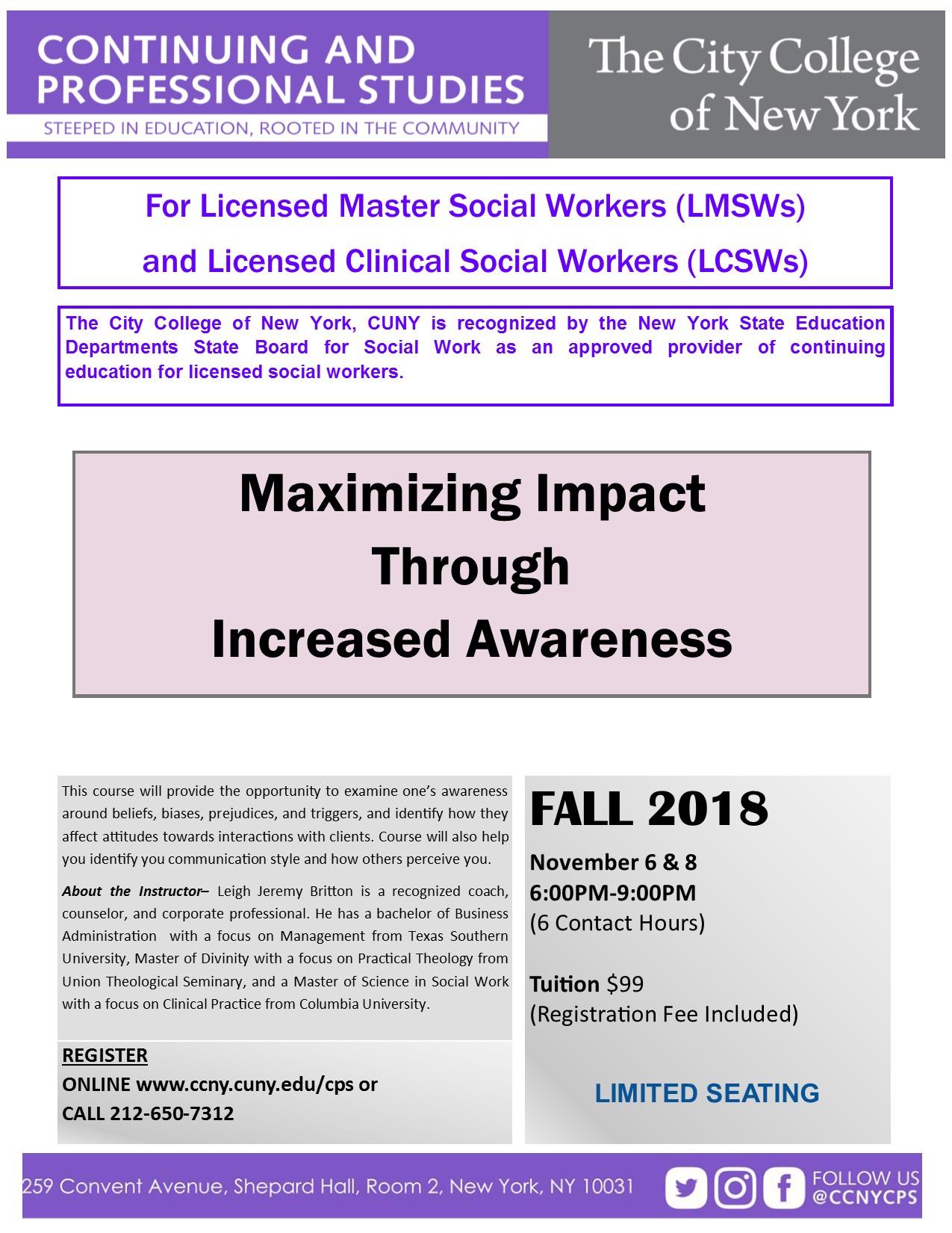 Maximizing Impact Through Increased Awareness