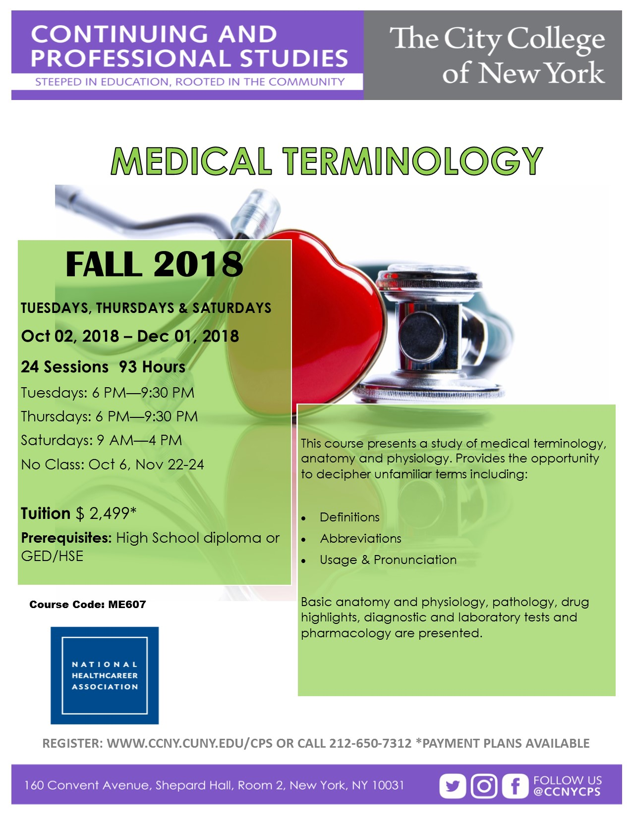 Medical Terminology | The City College of New York