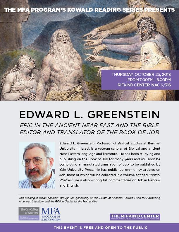 Edward Greenstein Poster