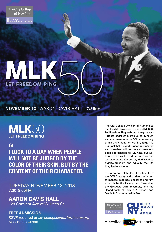MLK50 - Let Freedom Ring-Aaron Davis Hall-November 13