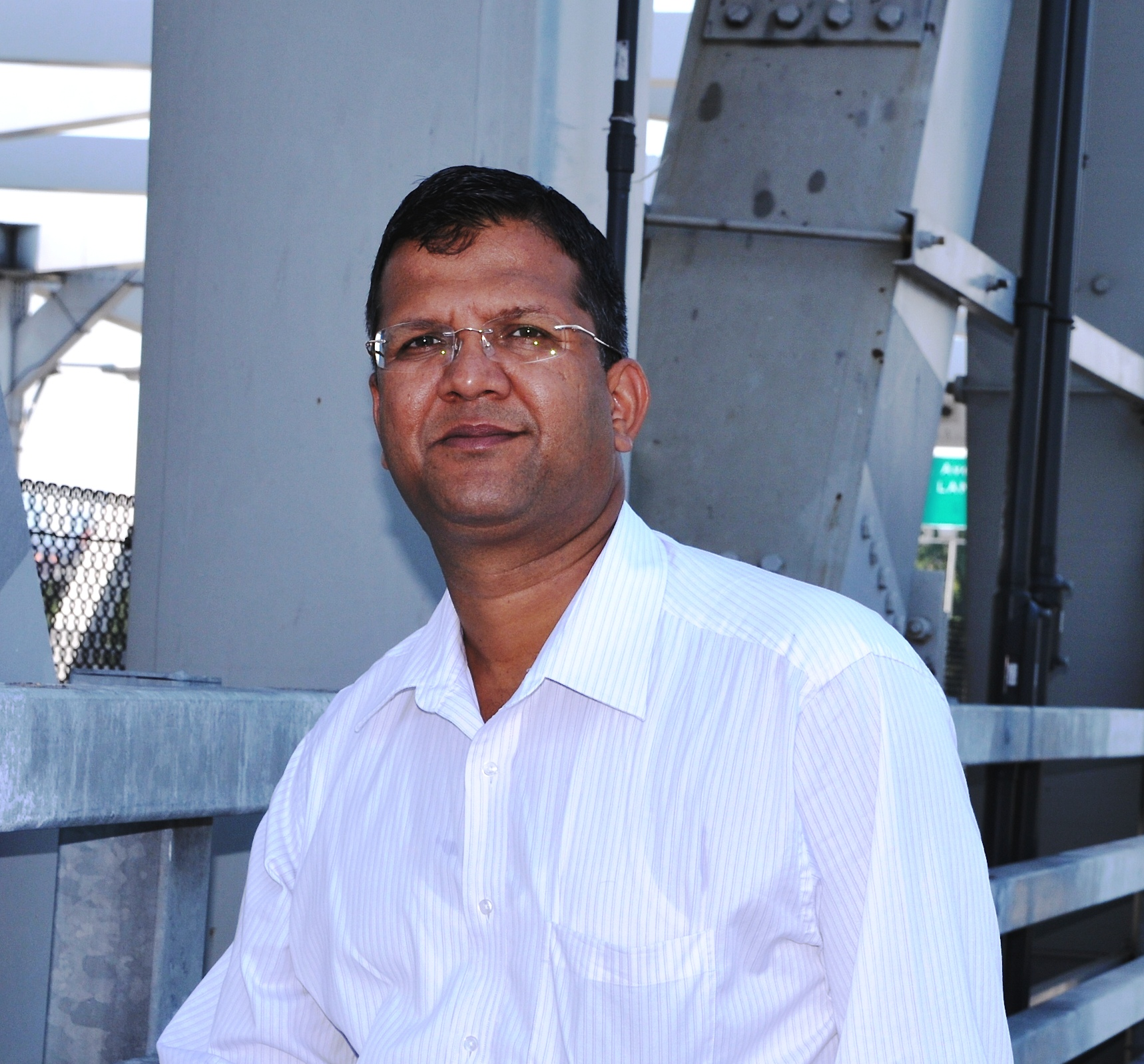 CCNY Professor of Civil Engineering Anil K. Agrawal on Third Avenue Bridge over the Harlem River