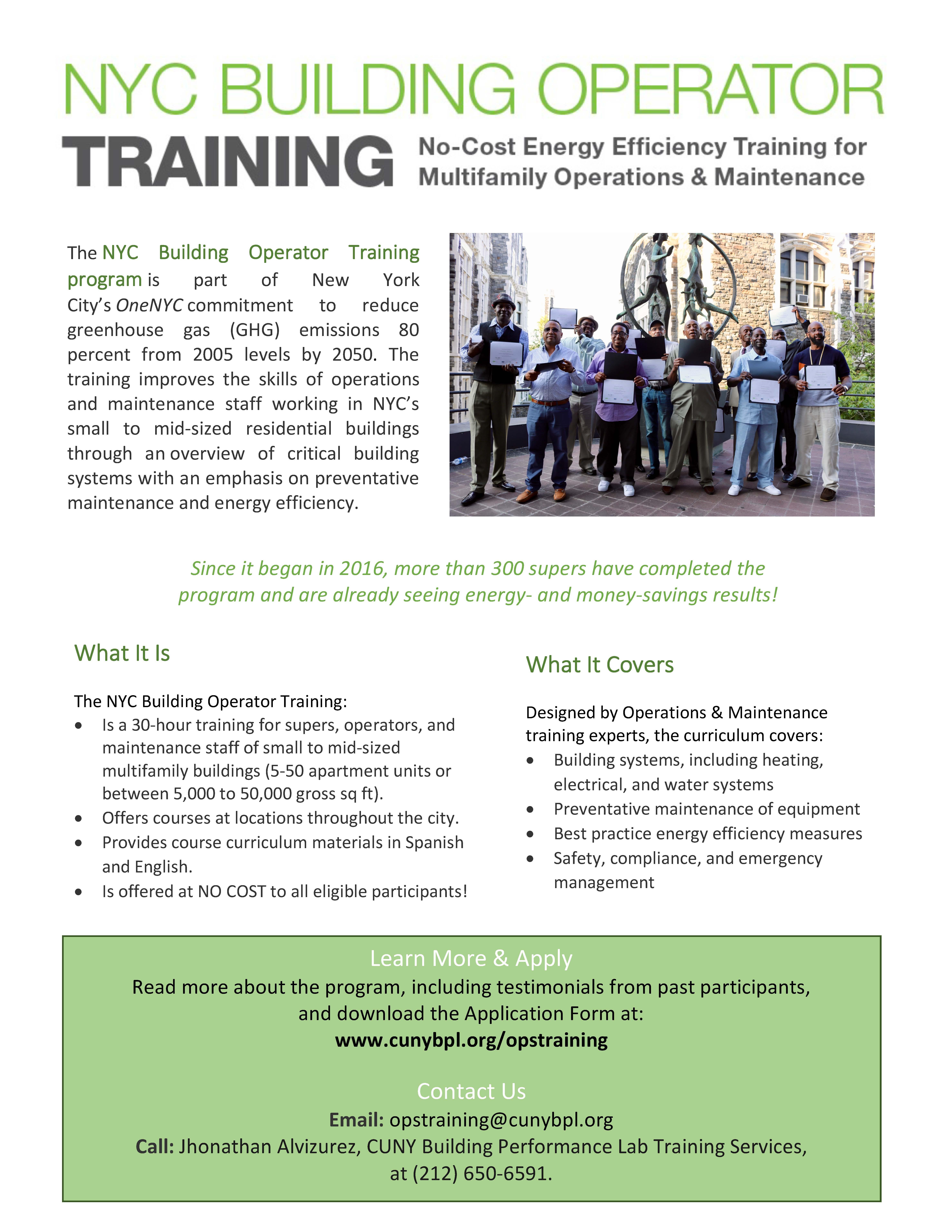 NYC Building Operator Training