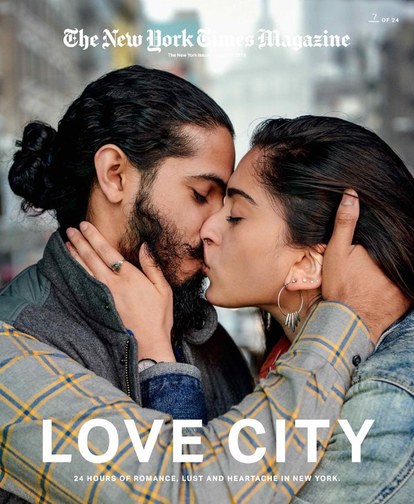 New York Times magazine Love City cover