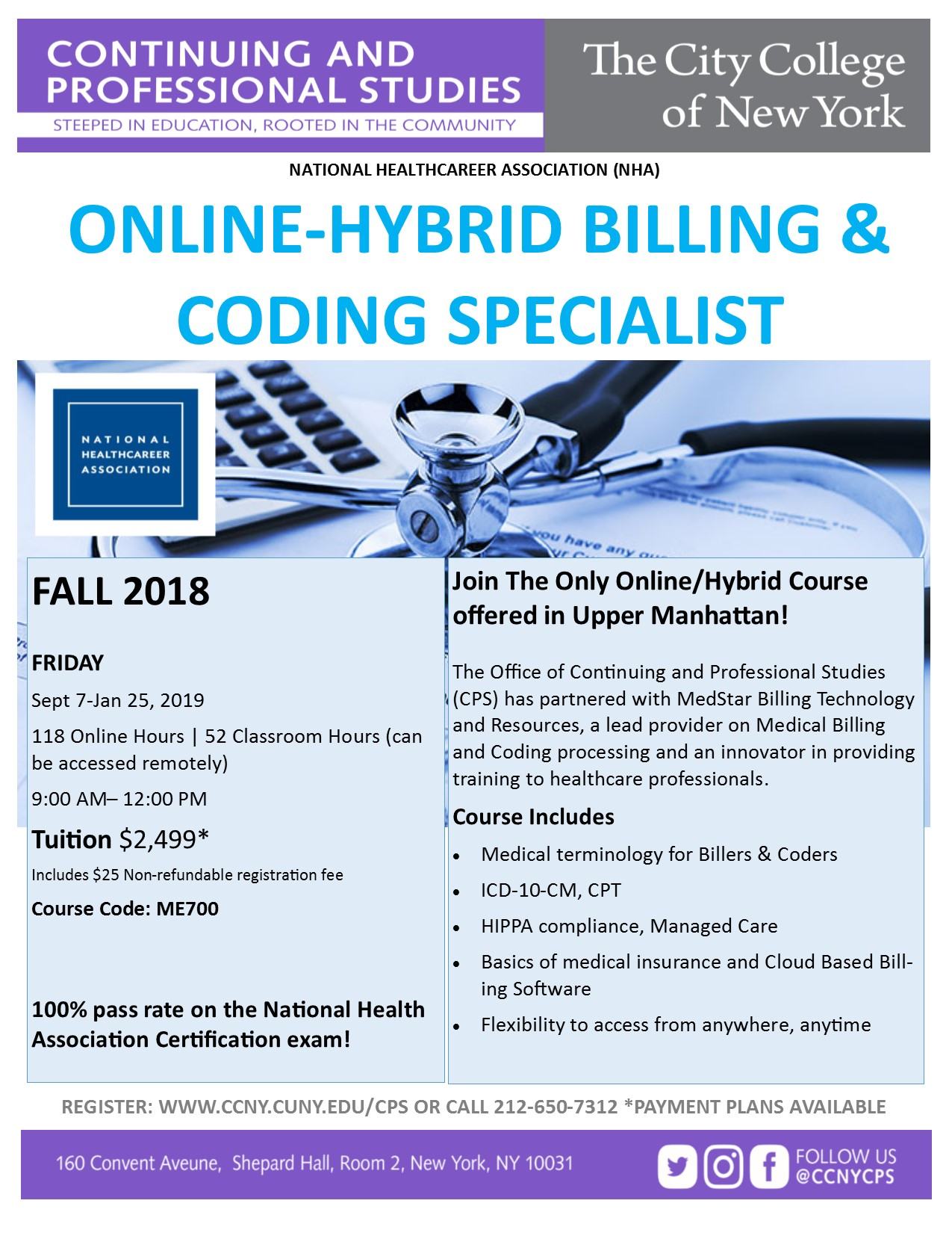 Onlinehybrid Certified Billing Coding Specialist The City