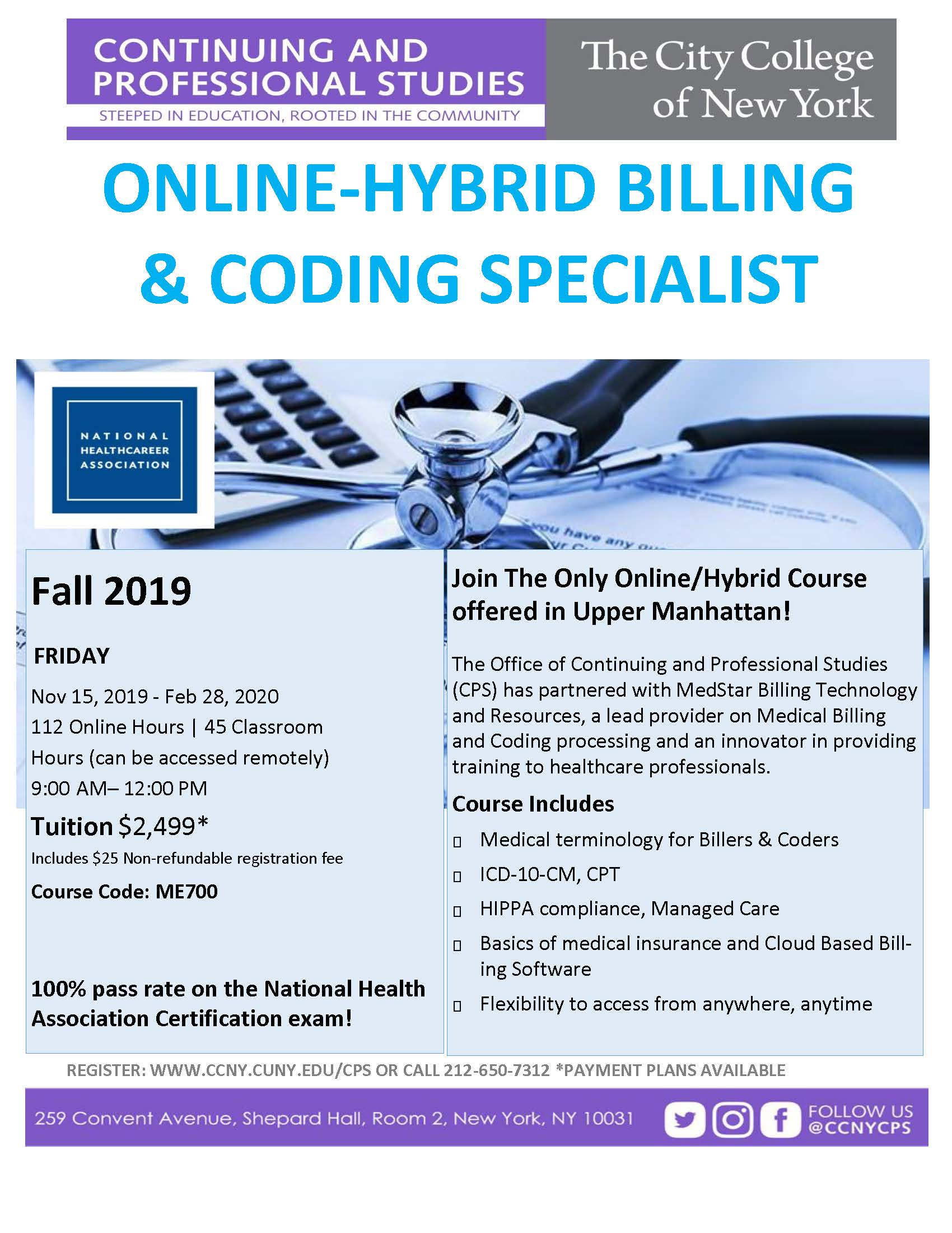 Online/Hybrid Certified Billing & Coding Specialist | The City