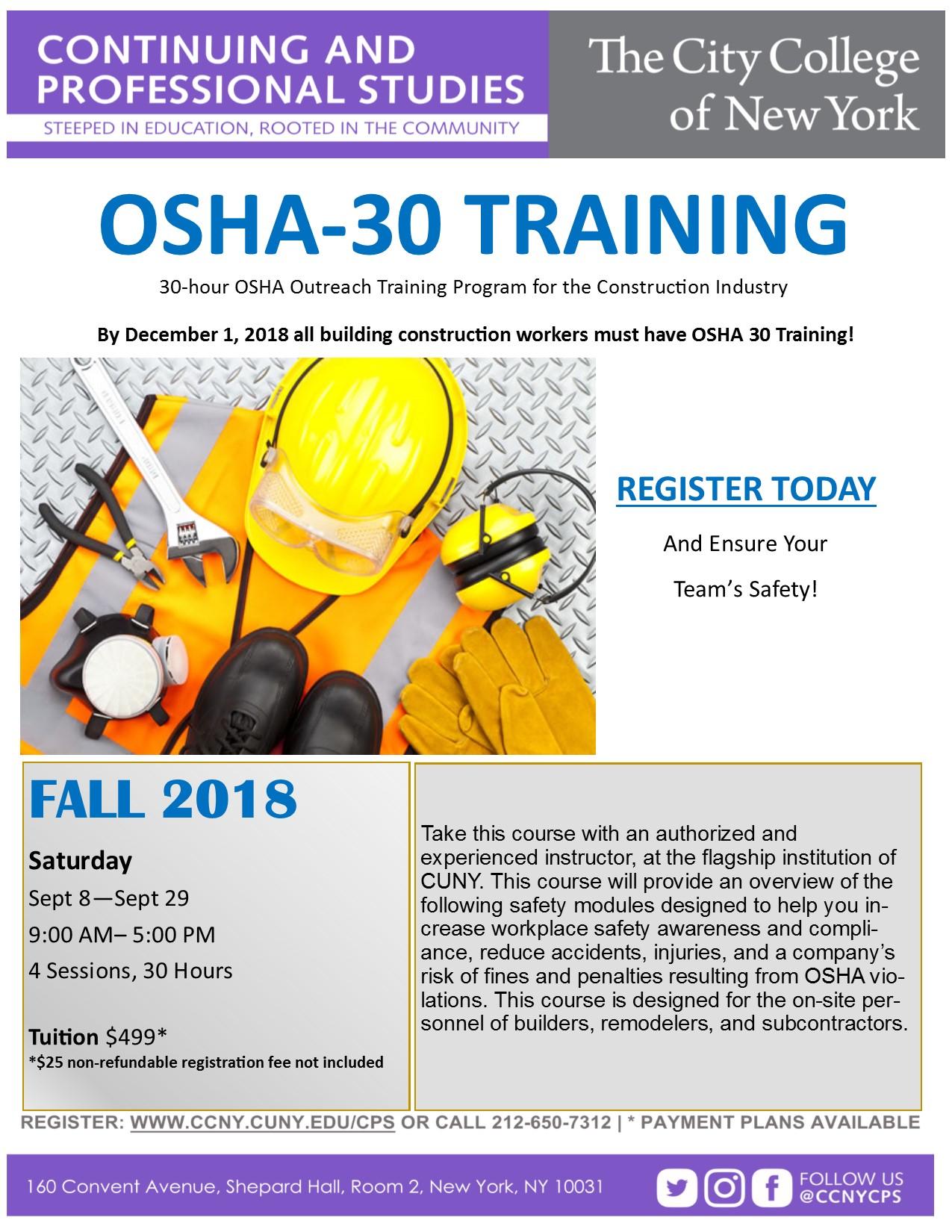 OSHA 30 English