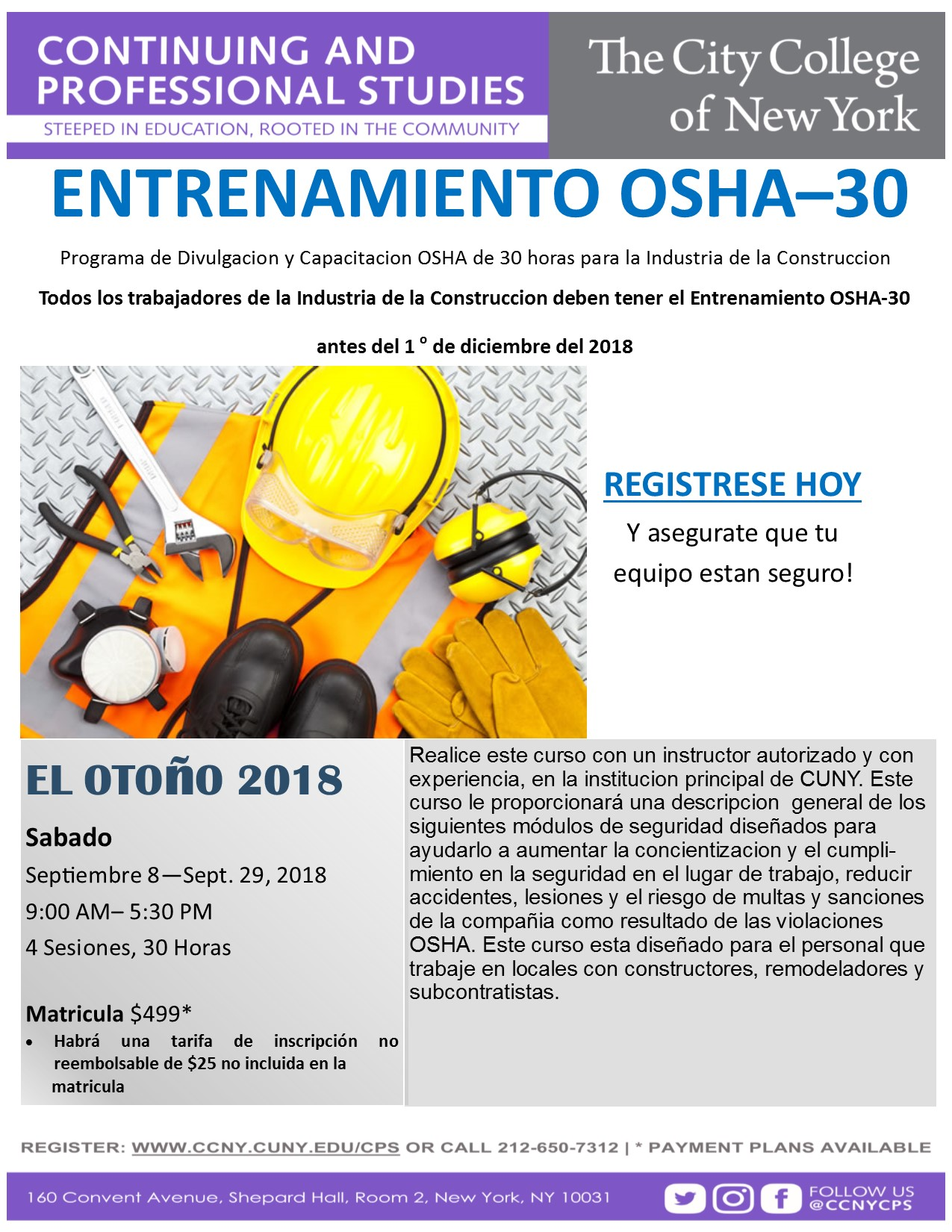 OSHA 30 Spanish