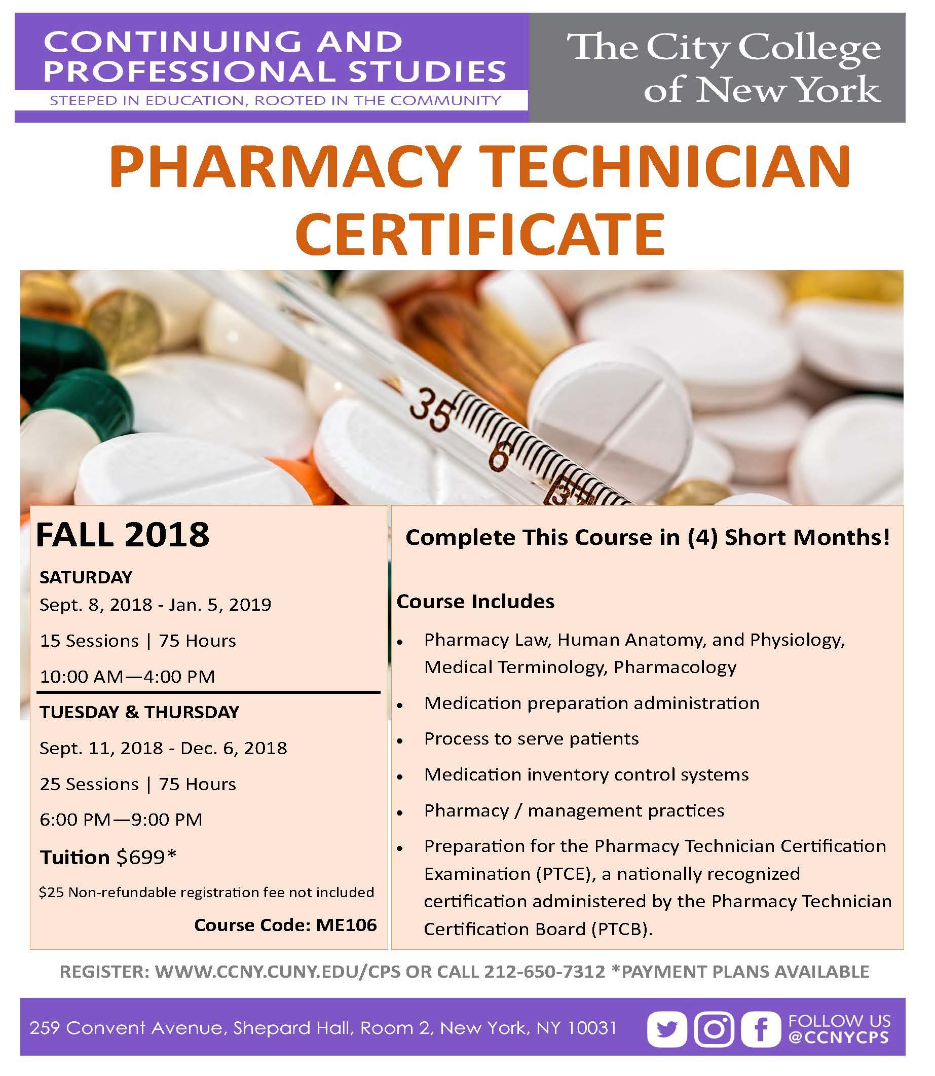 Pharmacy Tech Fall 2018