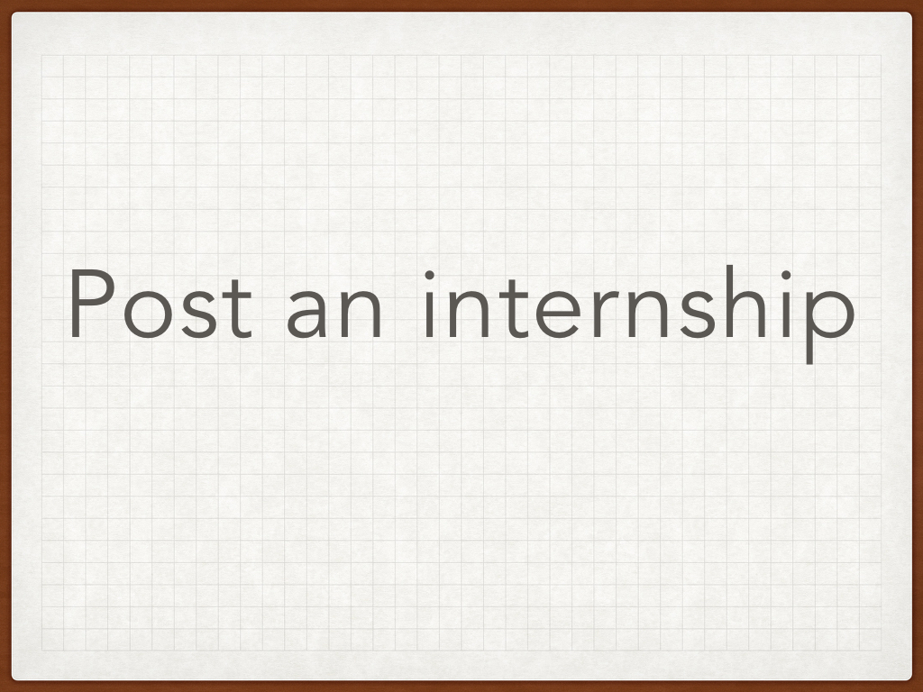 Internship or Research Opportunities