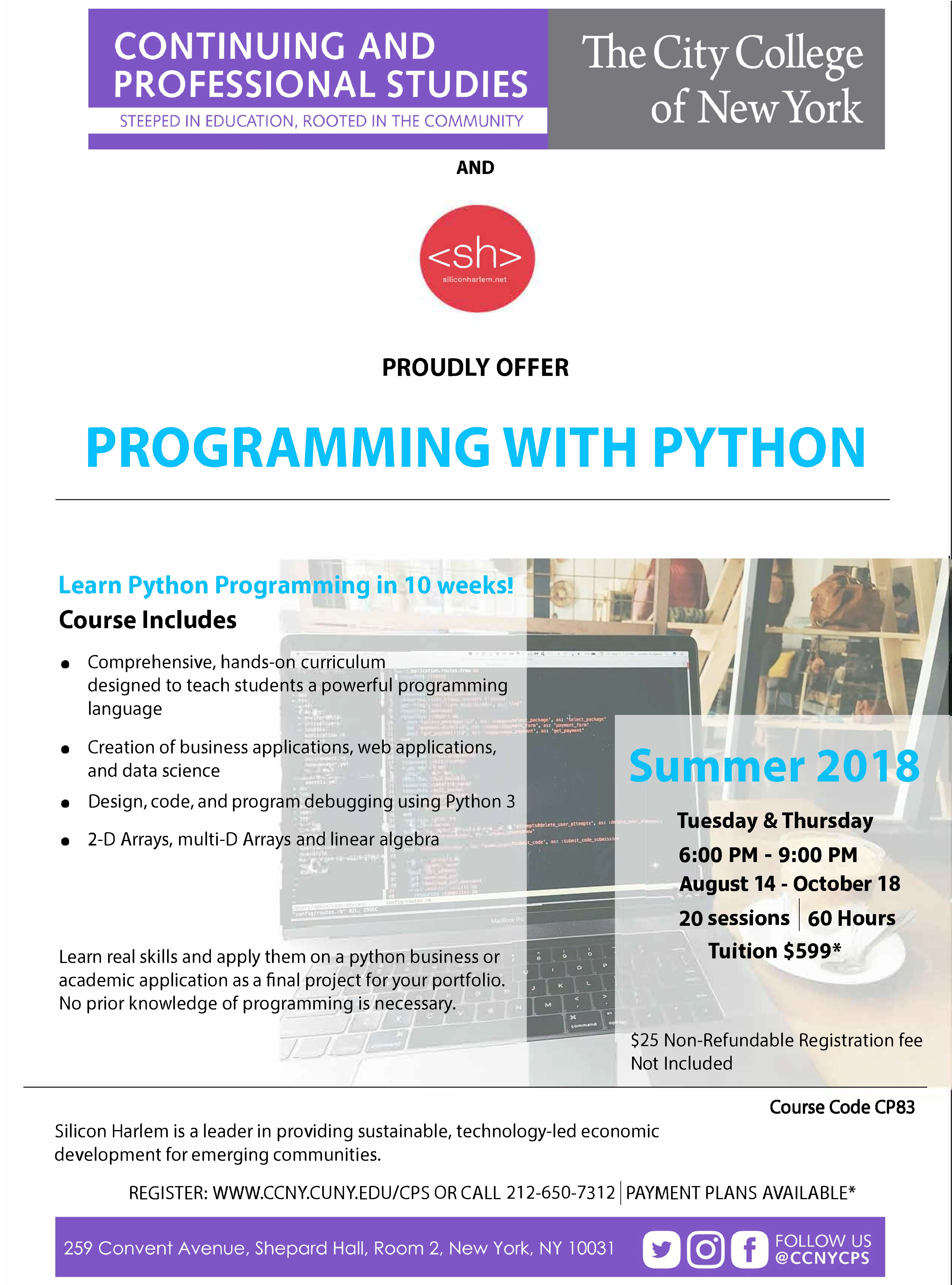 Programming With Python | The City College of New York