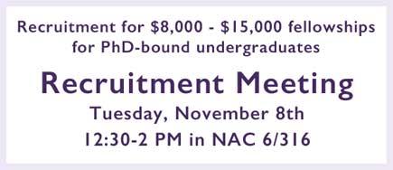 Recruitment meeting Fall 2016