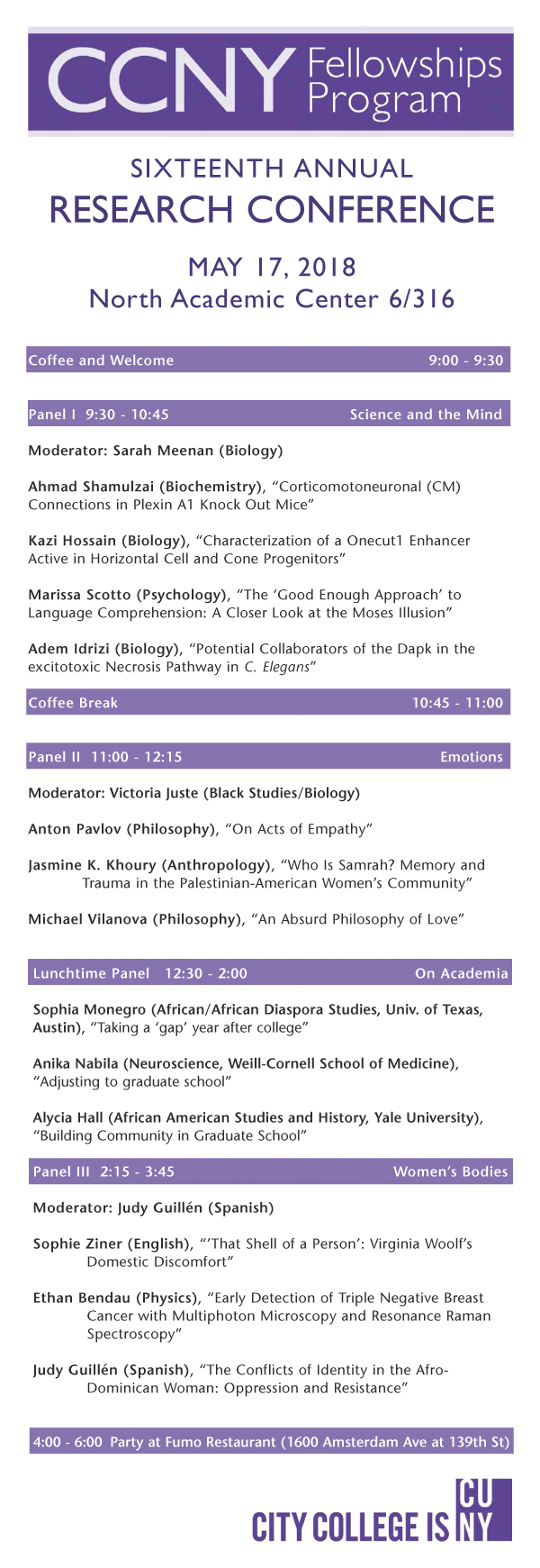 CCNY Research Conference 2018