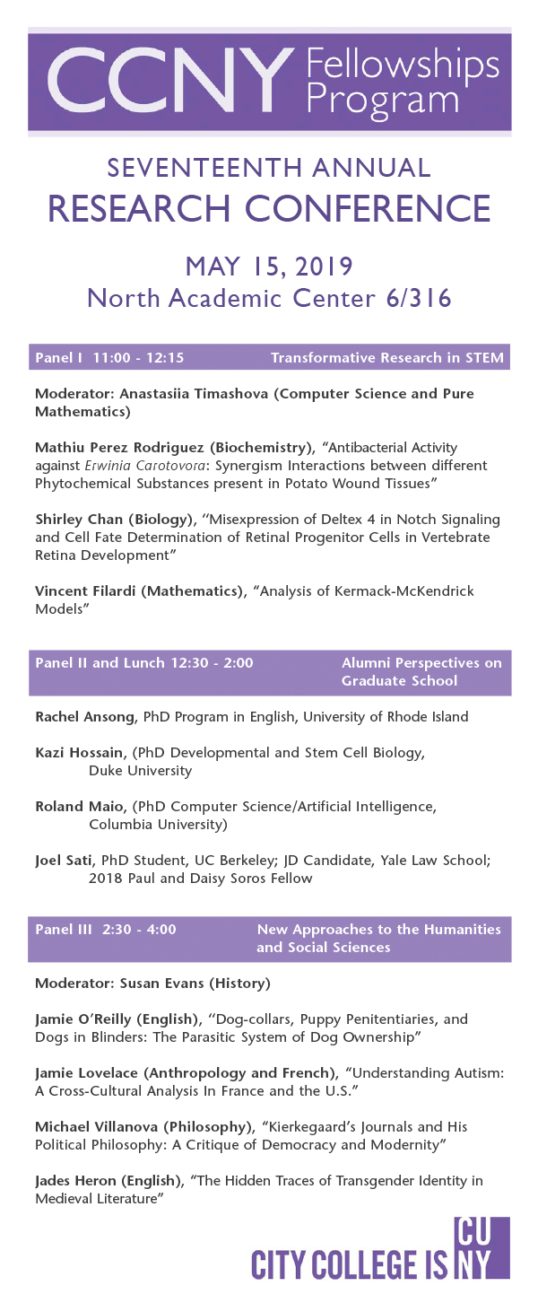 CCNY Research Conference 2019