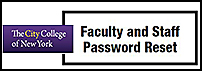 Faculty and Staff Password Reset Form