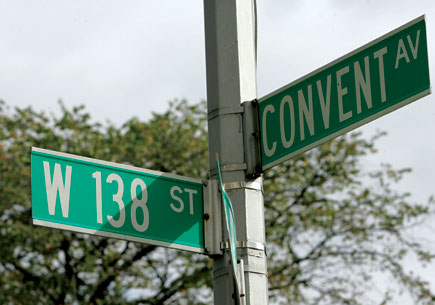 directions street sign 138 convent