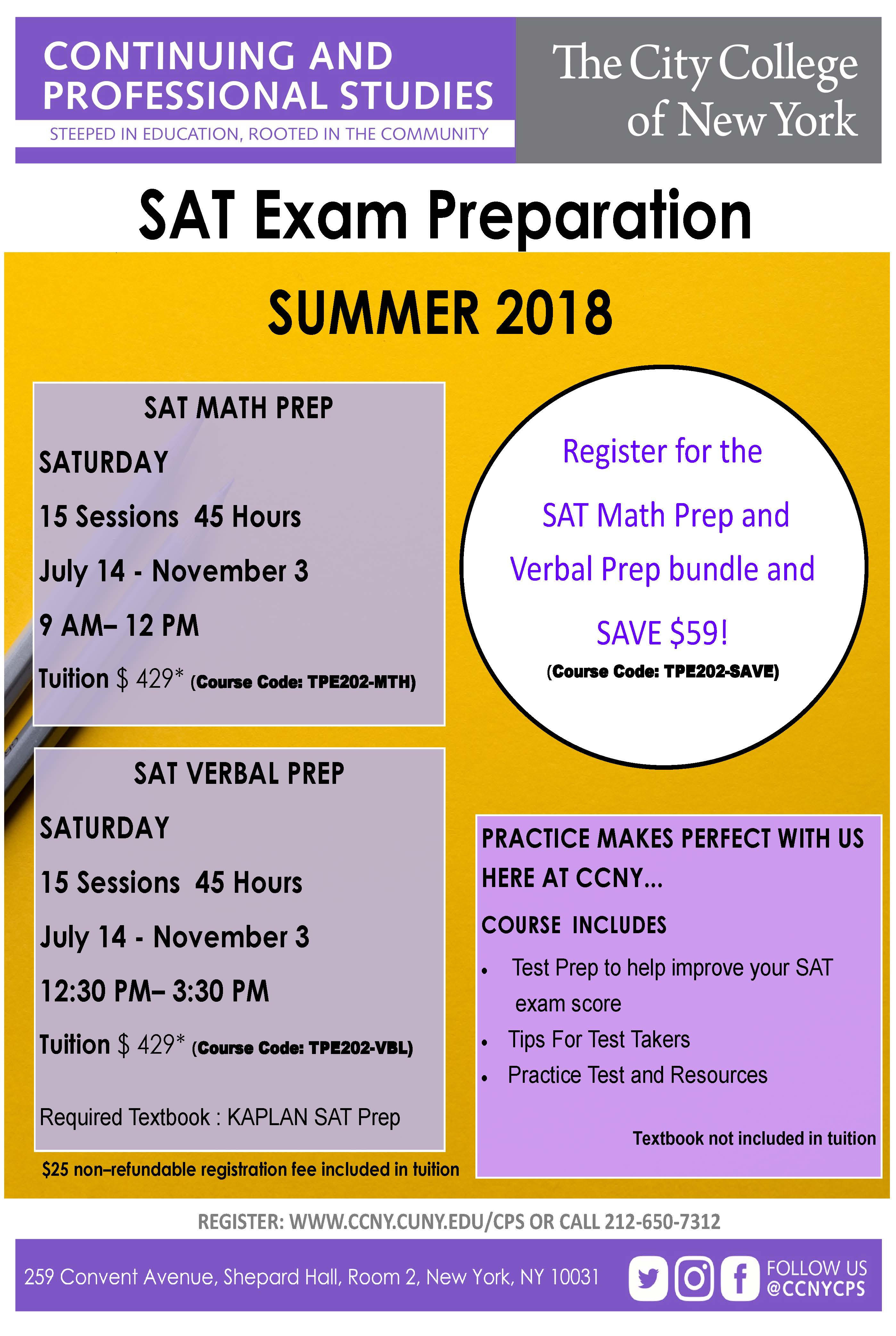 SAT Exam Prep | The City College of New York