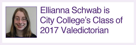 Ellianna Schwab is City College of New York 2017 Valedictorian