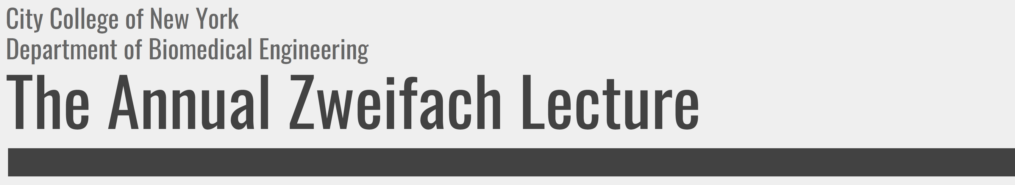 The Annual Zweifach Lecture