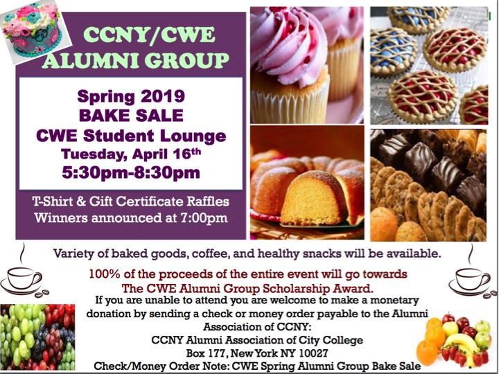 CWE AG Spring Bake Sale 4.16.19