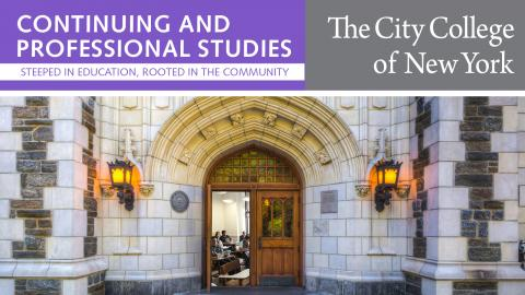 Image of CCNY Continuing and Professional Studies catalog cover 2019
