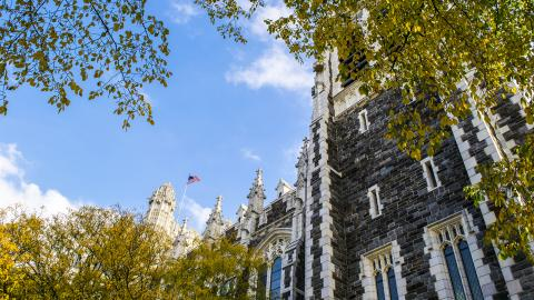 CCNY Shepard Hall on a fall day