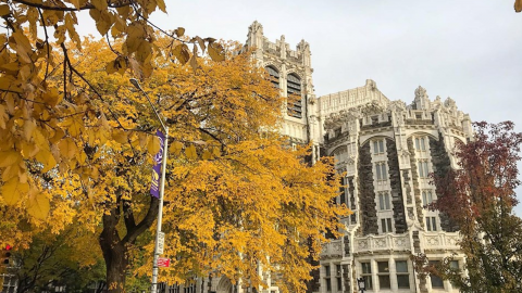 Shot of Shepard Hall in Autumn