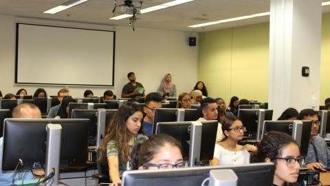 Students at the SSSP Open House held in September 2020