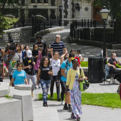 CCNY Campus with students