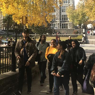 CCNY students walking to class