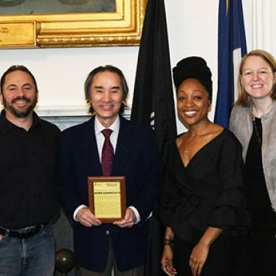 From left: Robert Domanski (Director of Higher Education, NYC TTP), Tiffany Jackson (Academic Program Specialist, CCNY CS), Akira Kawaguchi, and Lauren Anderson (Executive Director, NYC TTP)