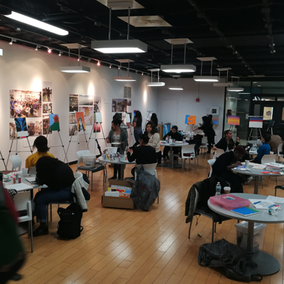 CCAPP event with students painting