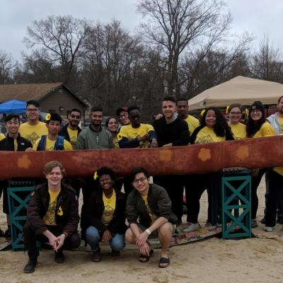 CCNY's Concrete Canoe club with Ringgold
