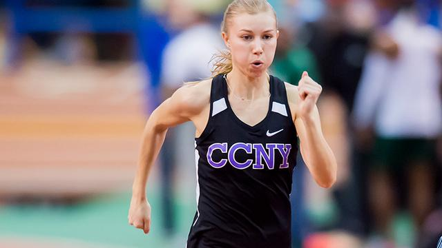 CCNY women's track and field Avery Maillet named USTFCCCA All-Academic Athlete for a second straight year.
