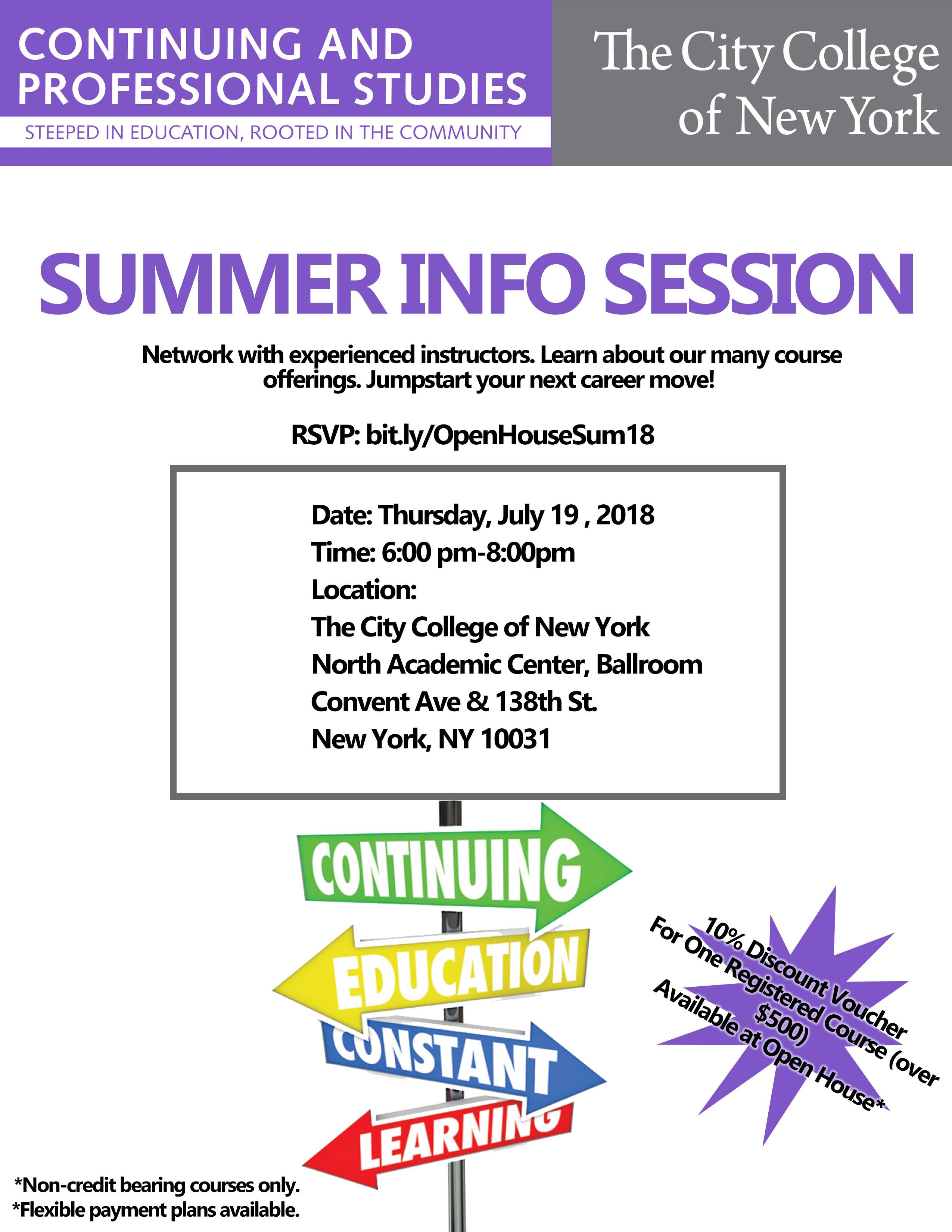 City College Of New York Summer Courses - LTT