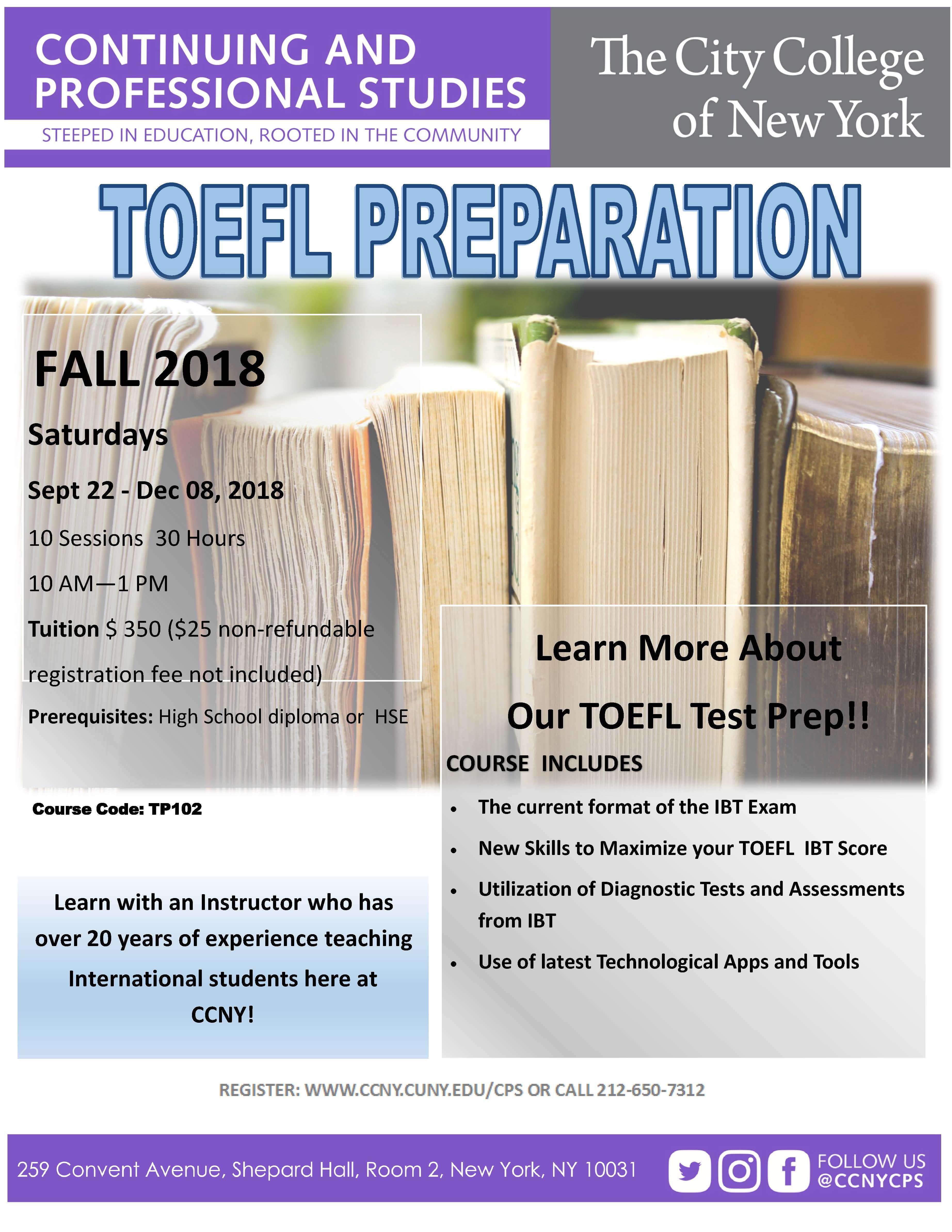 TOEFL Prep Fall 18
