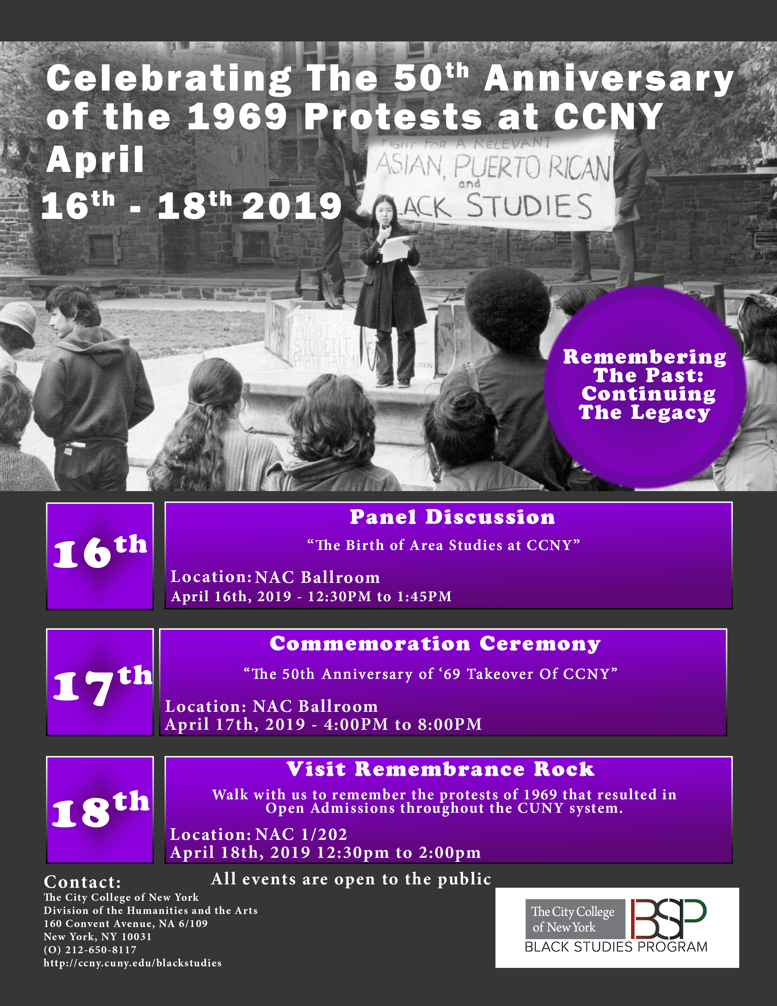 50th Anniversary of the 1969 Protests at CCNY