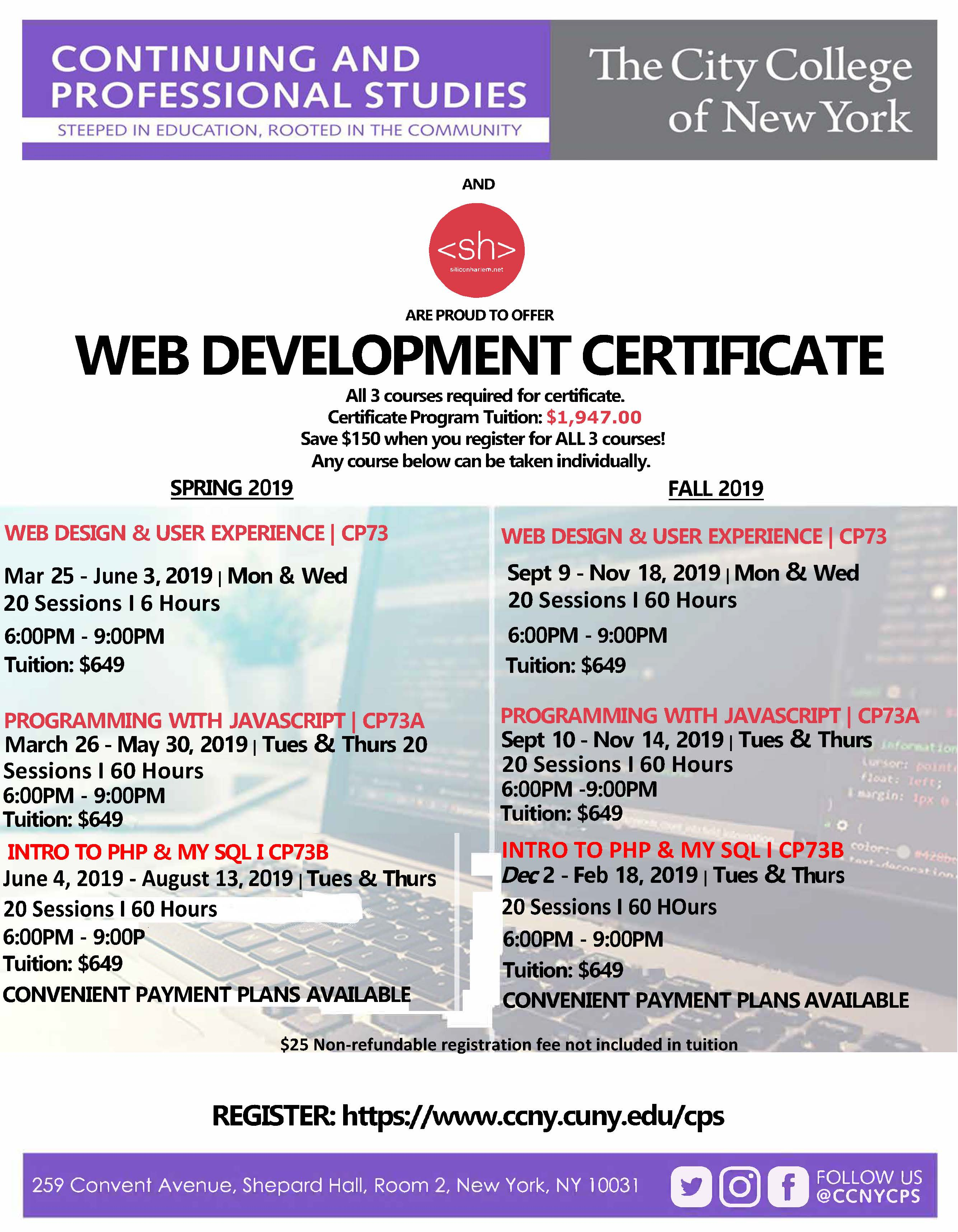 Web Development Certificate Program The City College Of New York
