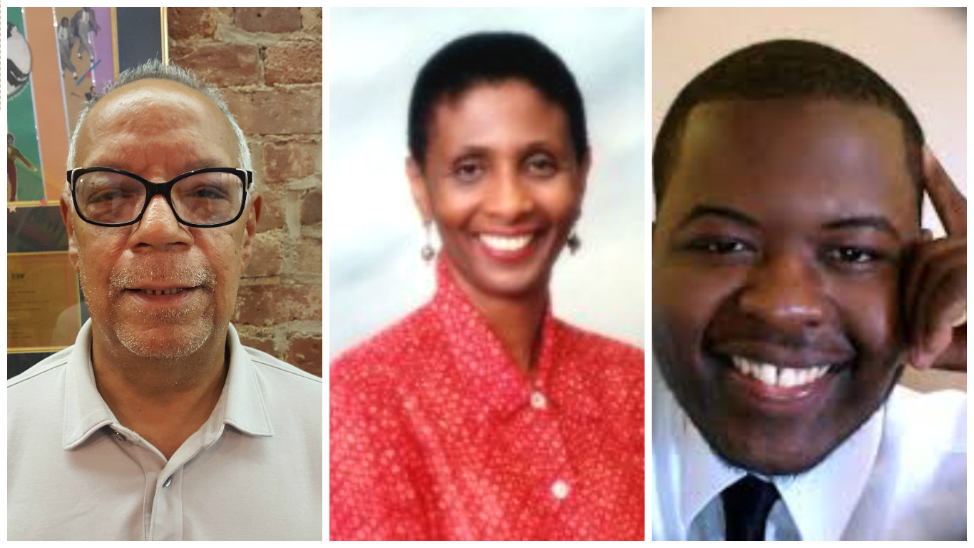Charles Powell, Anne Doris, and Keevin Brown.