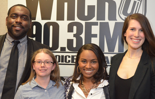 Hosts of Let Your Voice Be Heard, Sundays 11am-2pm on WHCR 90.3FM